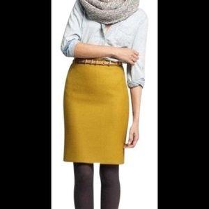 J. Crew Pencil Wool Skirt